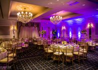 The Colonnade Hotel event space setup for a banquet or wedding in the Huntington Ballroom