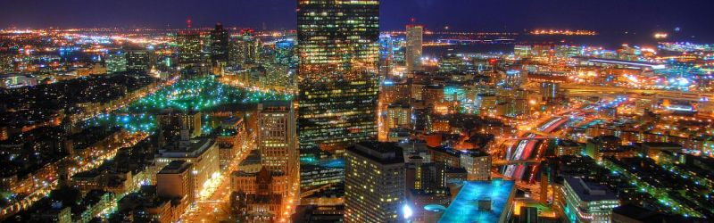 Back Bay Night City View