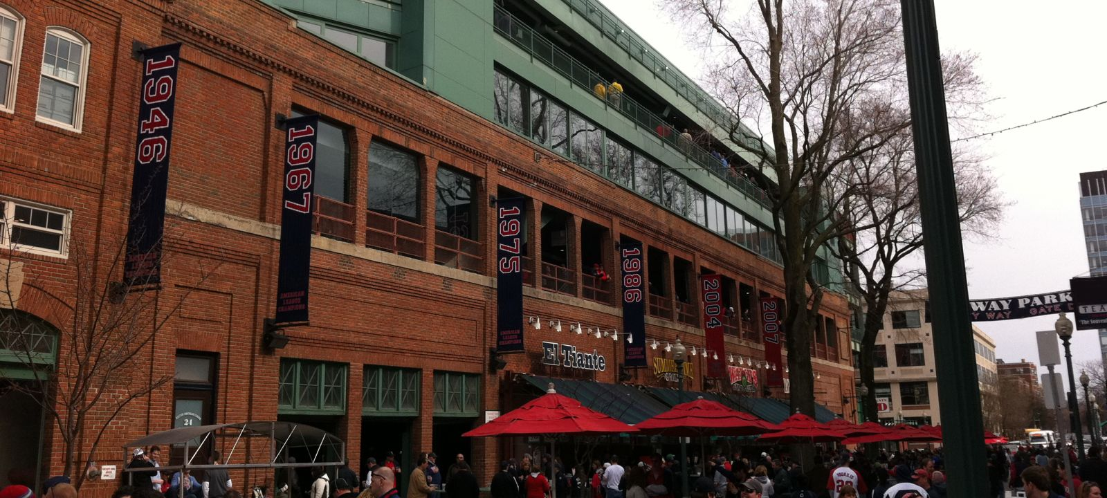 Outside Fenway Park, near The Colonnade Hotel
